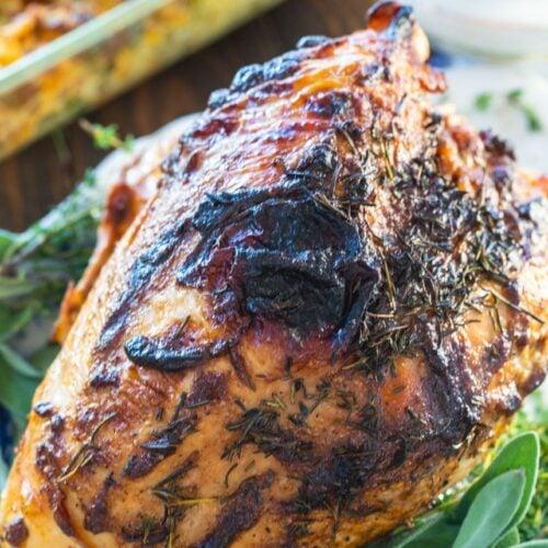 Mayonnaise Roasted Turkey Breast