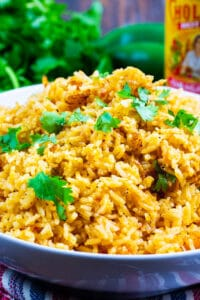 Perfect Mexican Rice in a bowl.