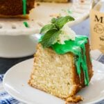 Mint Julep Cake with mint glaze