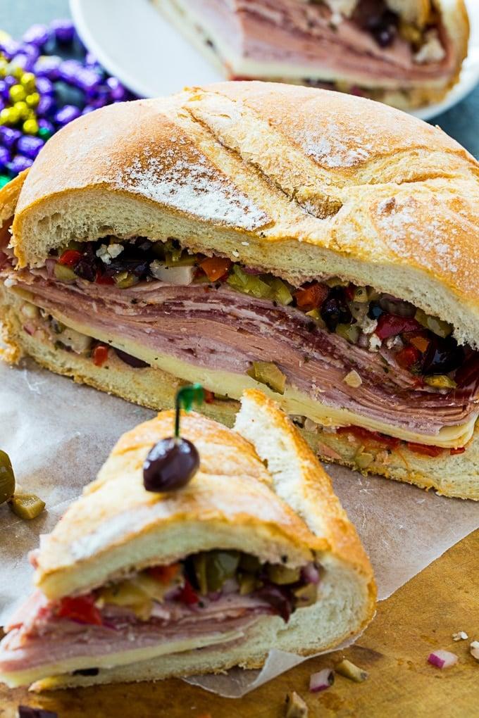 Muffaletta Sandwich- a New Orleans favorite