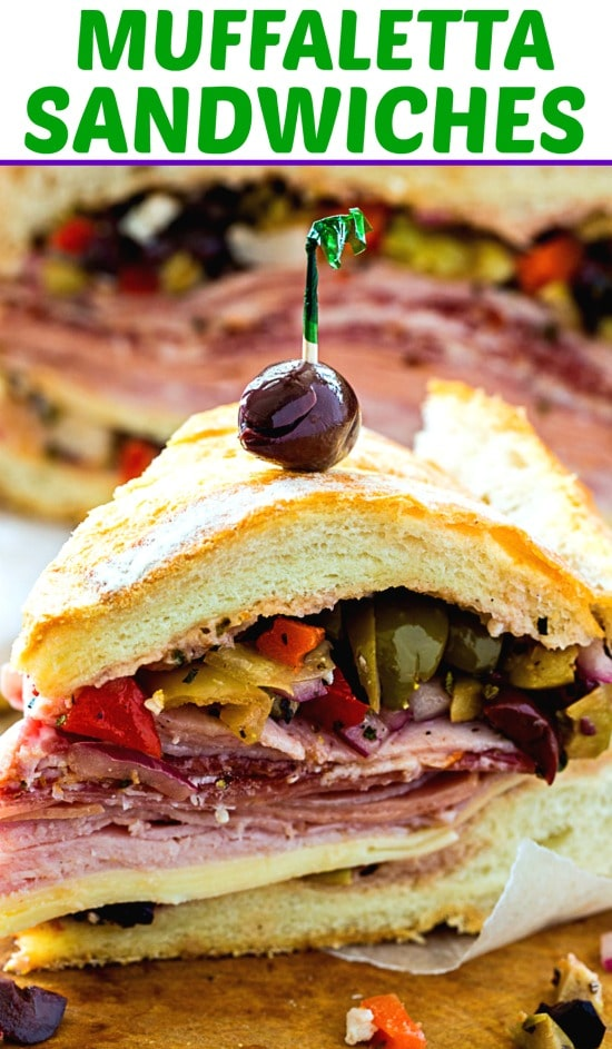 Muffaletta Sandwiches are perfect for Mardi Gras. #neworleans