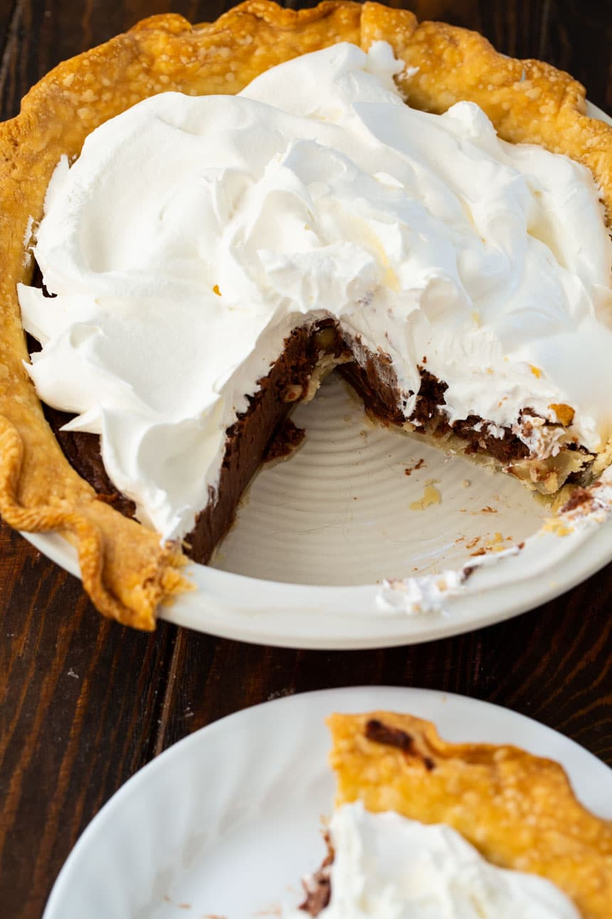 Nutella Pie in a buttery pie crust