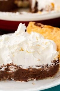 Nutella Pie with Whipped Cream Topping
