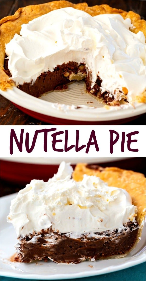 Nutella Pie with a flaky pie crust