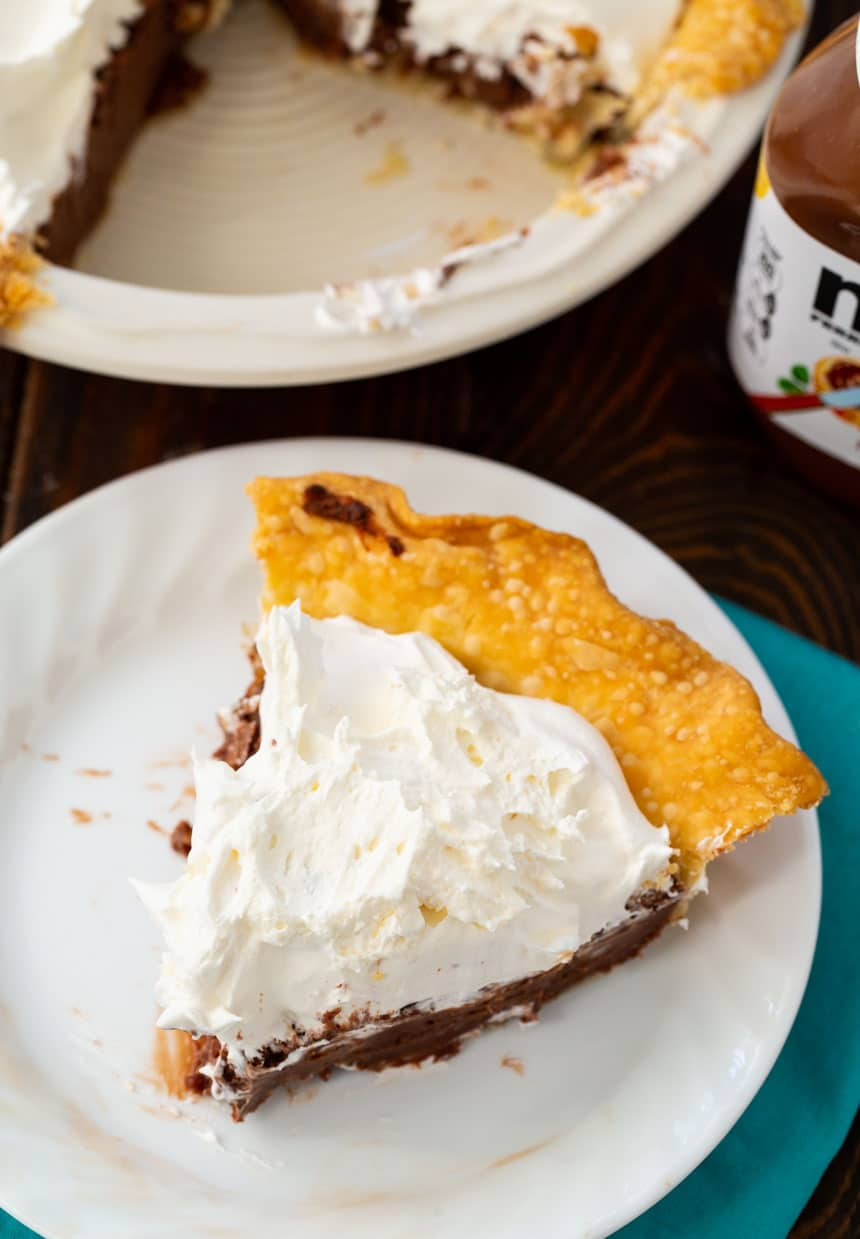 Rich and Fudgy Nutella Pie