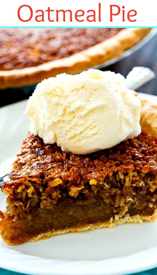 Oatmeal Pie with Vanilla ice cream