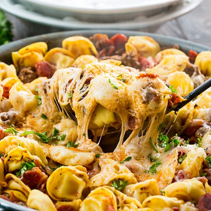 One Pot Meaty Tortellini