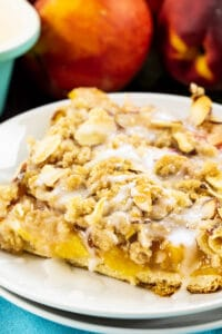 Peaches and Cream Crescent Bar on a plate.