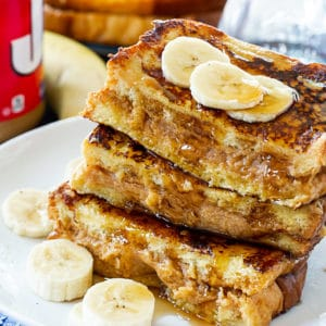 French Toast Stuffed with Peanut Butter