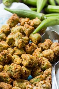 Pecan Crusted Fried Okra