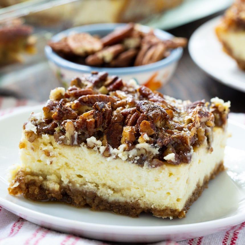 Cheesecake Bar on a white plate.