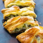 Cheese Steak Crescent Braid