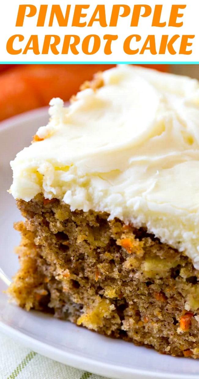 Pineapple Carrot Sheet Cake