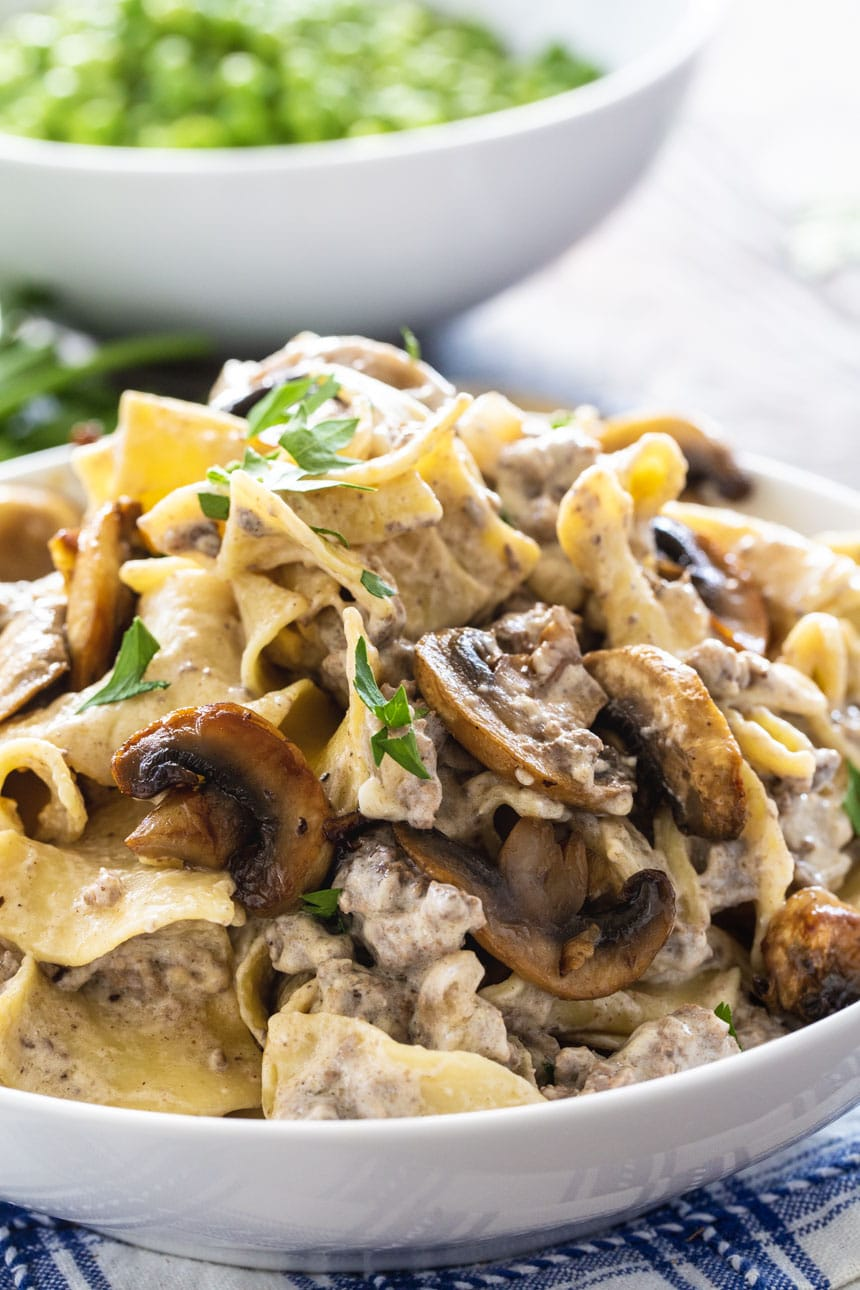 Clos-up of Ground Beef Stroganoff