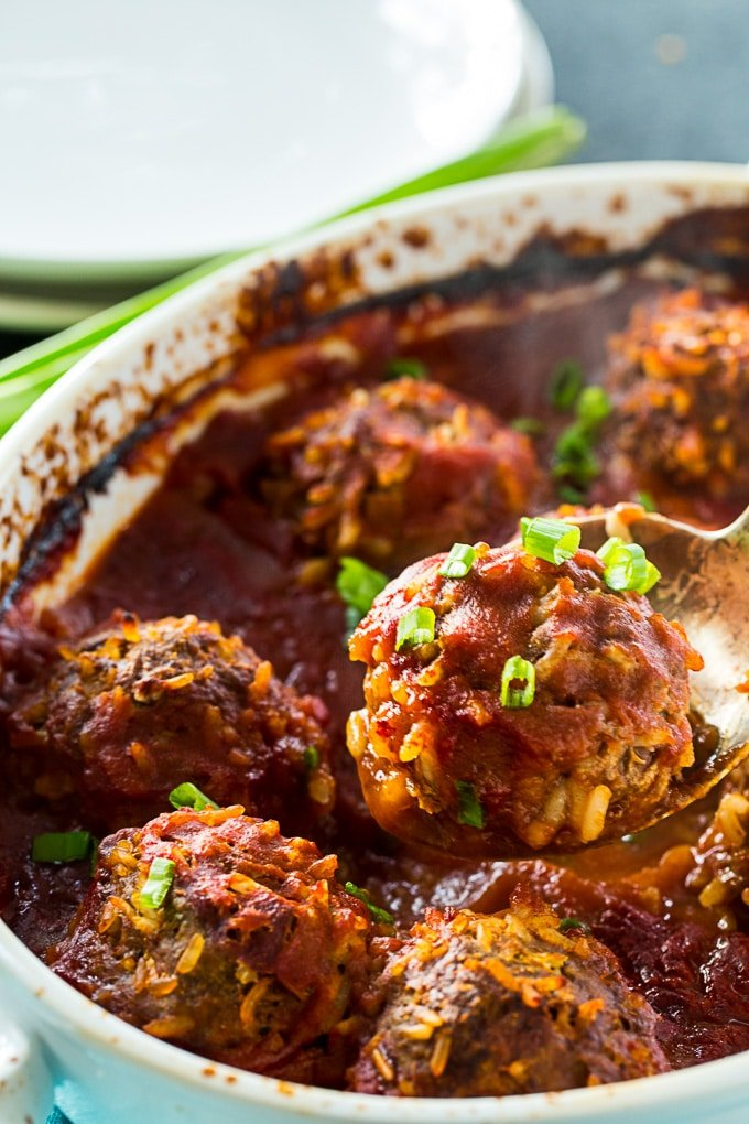Old-Fashioned Porcupine Meatballs