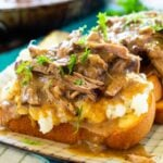 Pot Roast Open Faced Sandwich