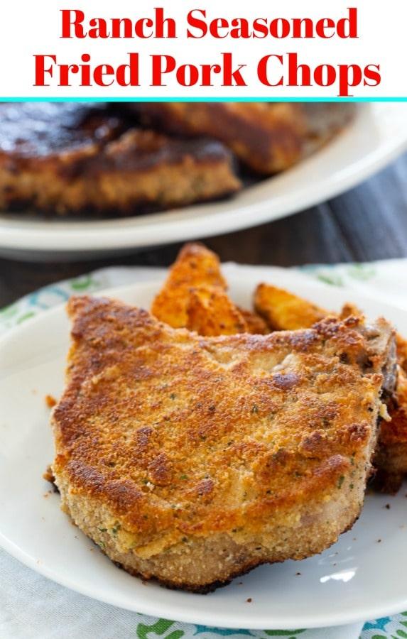 Ranch Seasoned Fried Pork Chops
