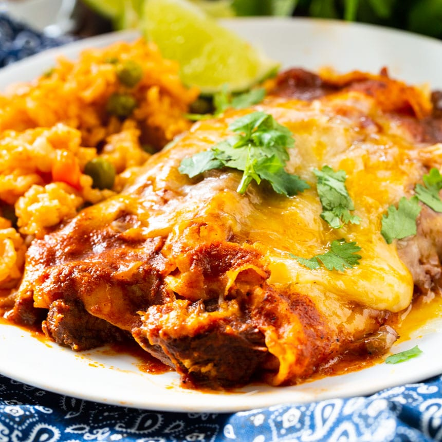 Red Enchiladas With Beef Spicy Southern Kitchen