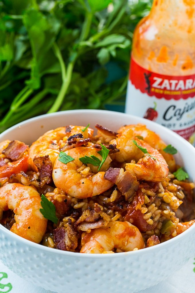 Red Rice with Shrimp and Bacon
