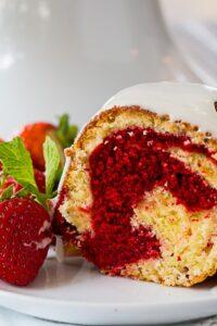 Red Velvet Swirl Pound Cake