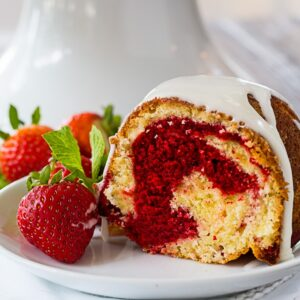 Red Velvet Swirl Pound Cake