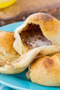 Resurrection Rolls made with crescent roll dough.