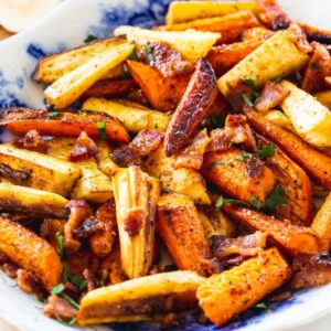 Roasted Carrots and Parsnips with Bacon