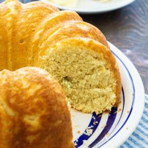 Sally Lunn Bread on a serving platter