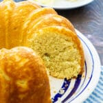 Sally Lunn Bread on a plate.