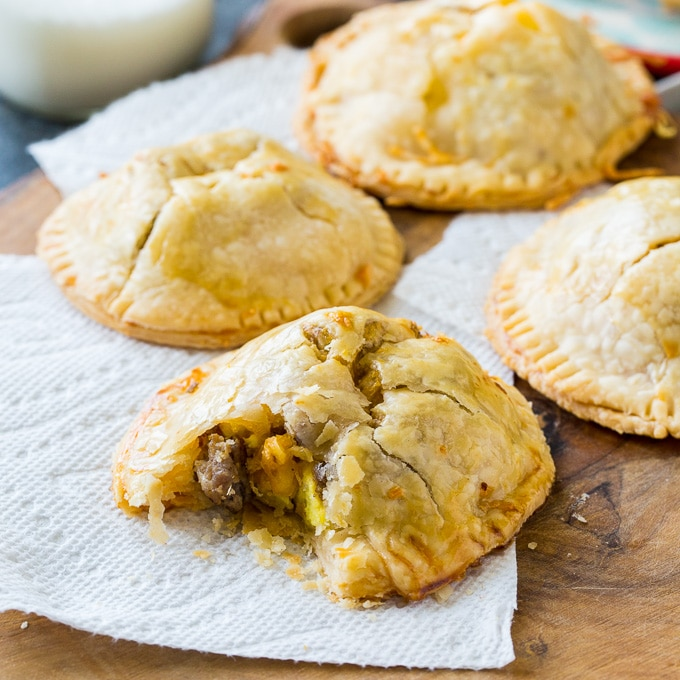 Sausage, Egg and Cheese Hand Pies