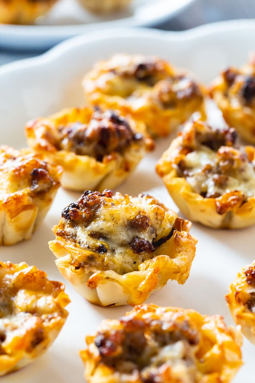 Sausage Ranch Phyllo Cups