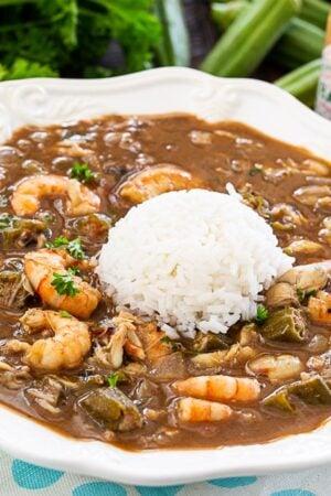 SEasfood and Okra Gumbo with Rice