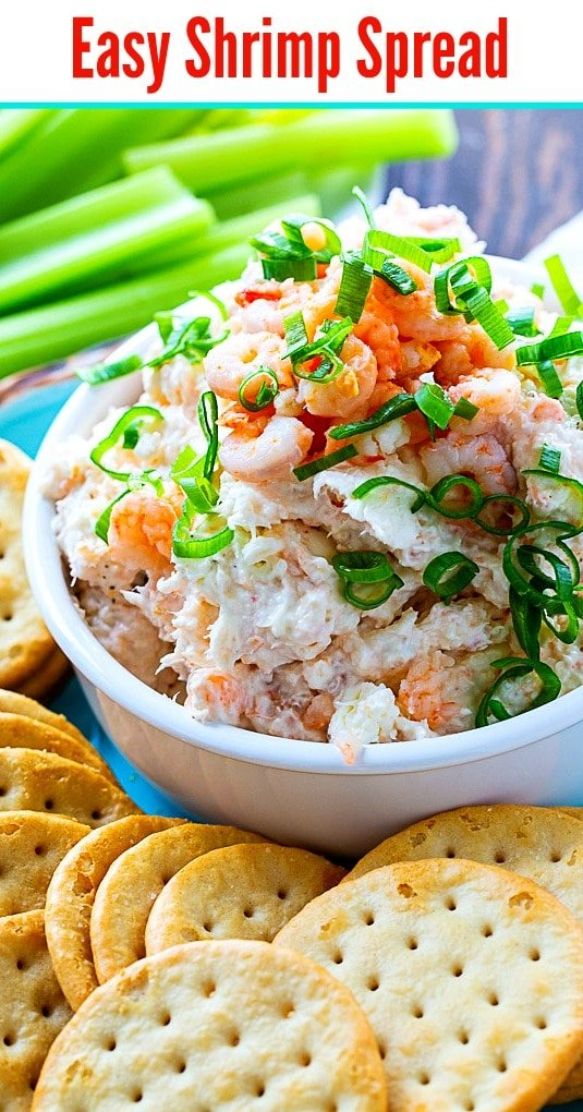 Easy Shrimp Spread with crackers