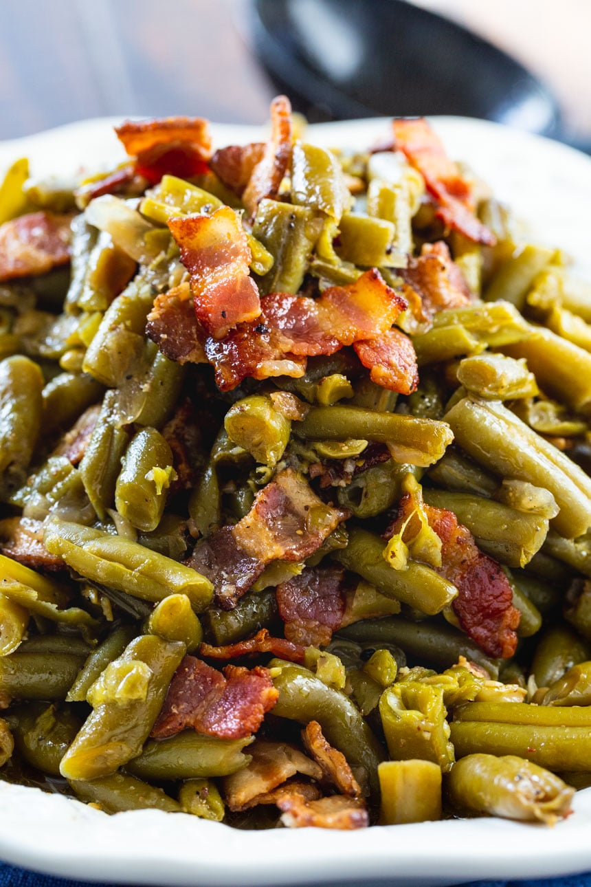 Crock Pot Buttery Bacon Green Beans