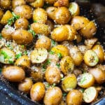Garlic Parmesan Potatoes in a slow cooker.