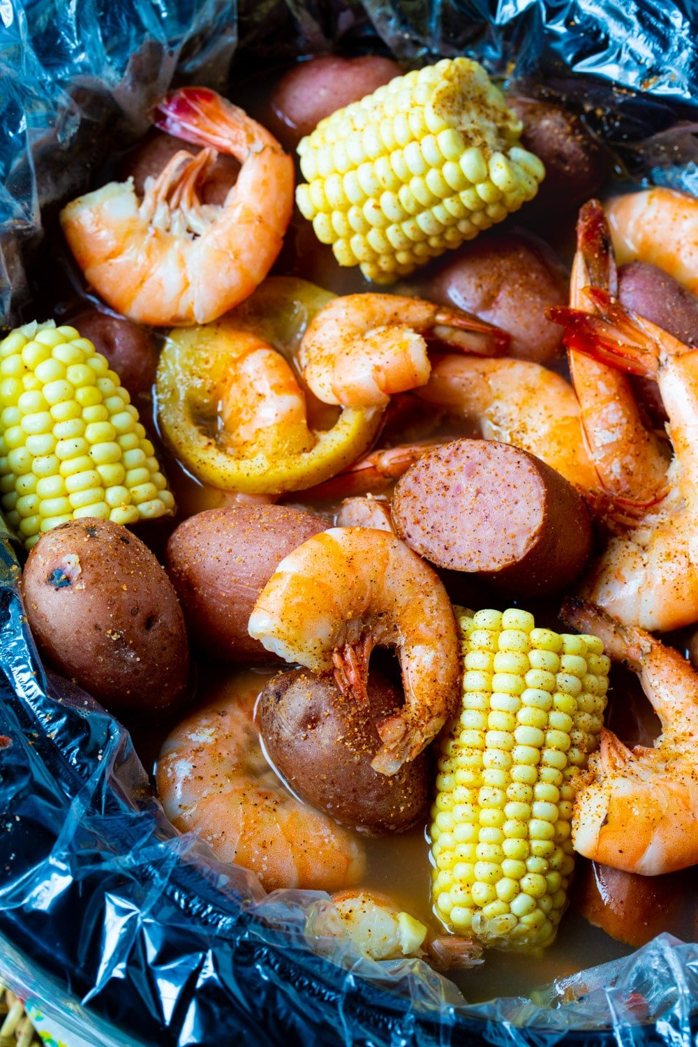 Low Country Boil in a slow cooker.