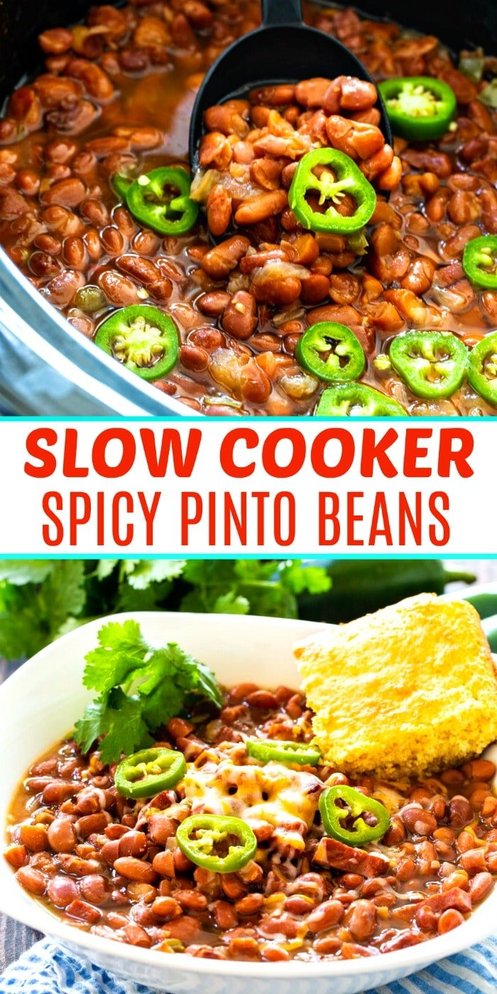 Collage picture of Slow Cooker Pinto Beans