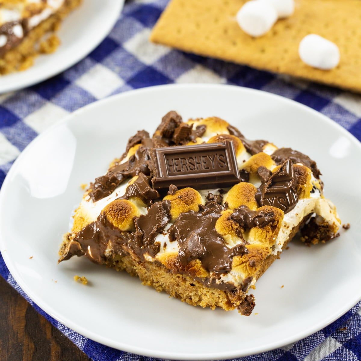 S'mores Bar on a small plate.