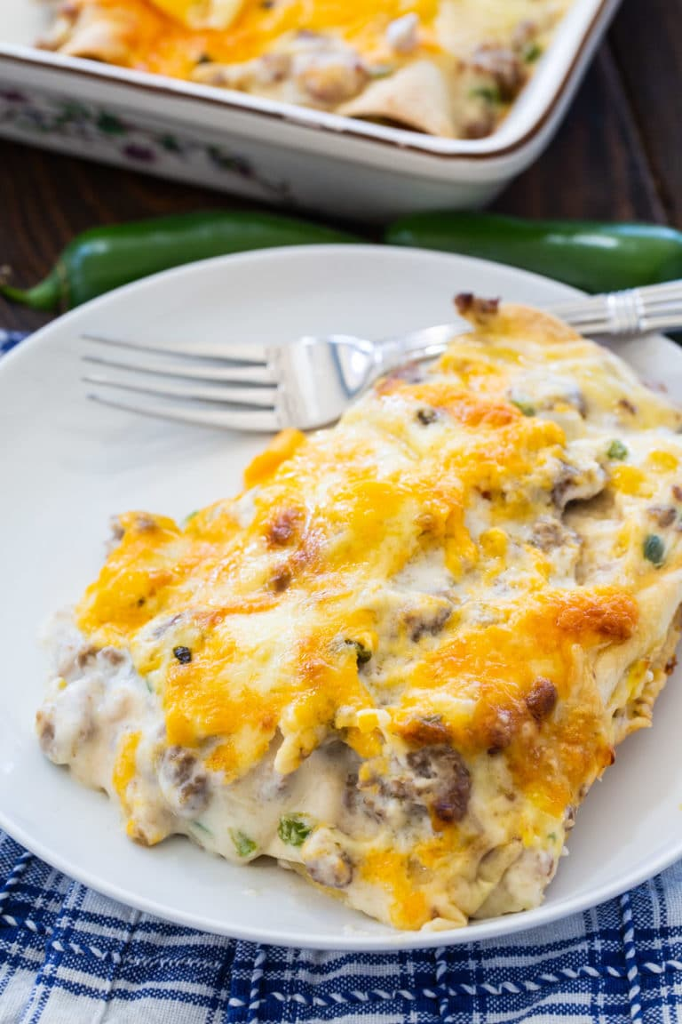 Southern Breakfast Enchiladas with Sausage Gravy