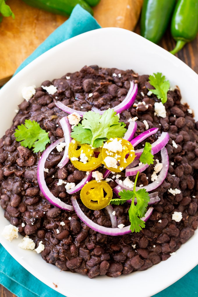 From Scracth Spicy Black Beans