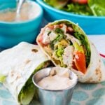 Spicy Chicken Caesar Salad Wrap