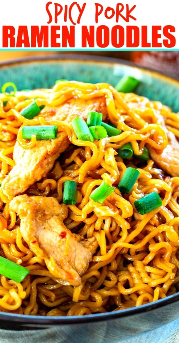 Spicy Pork Ramen Noodles