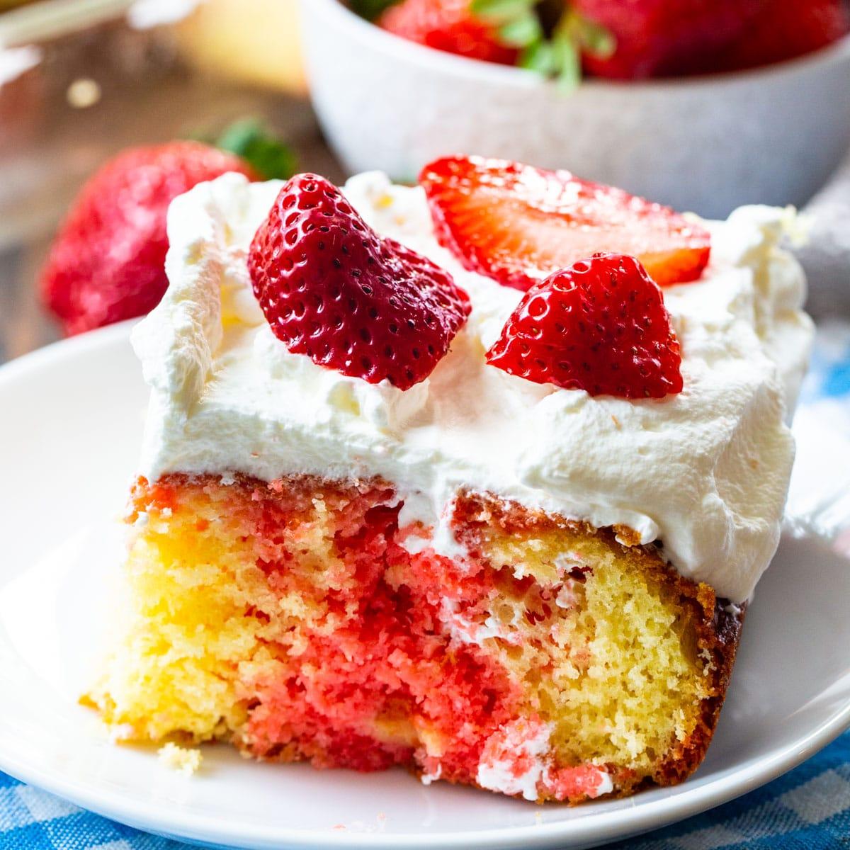 Easy Strawberry Flavored Poke Cake