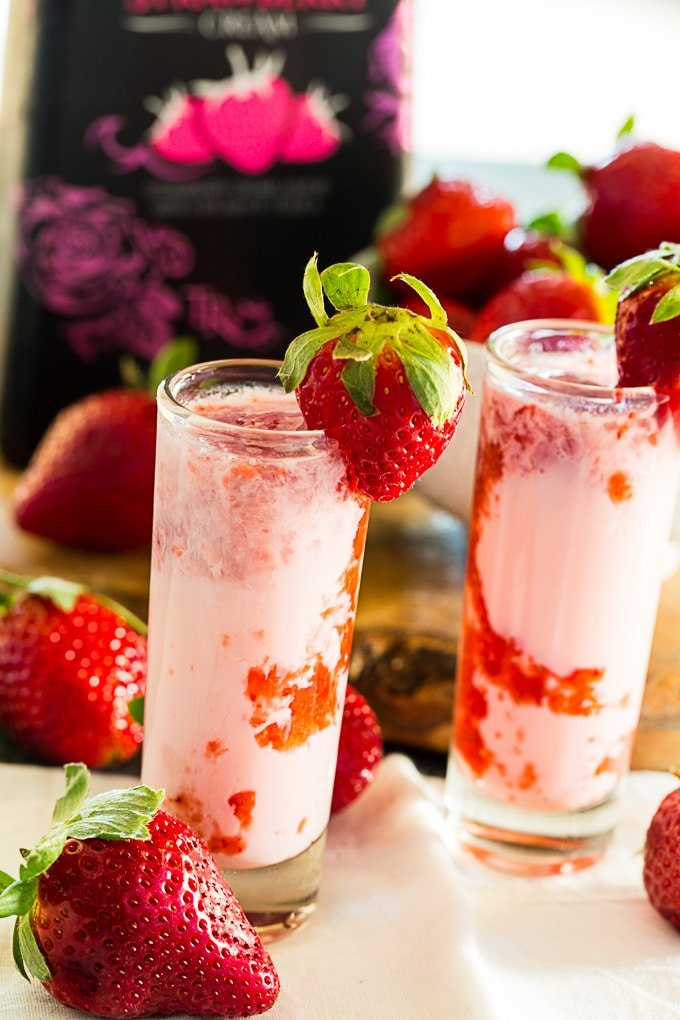 Strawberry Shortcake Shots