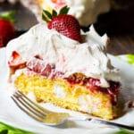 Strawberry Twinie Cake Slice on a plate.