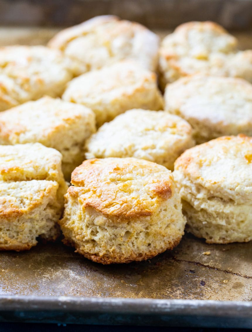Sweet Little Biscuits on a baking sheet.