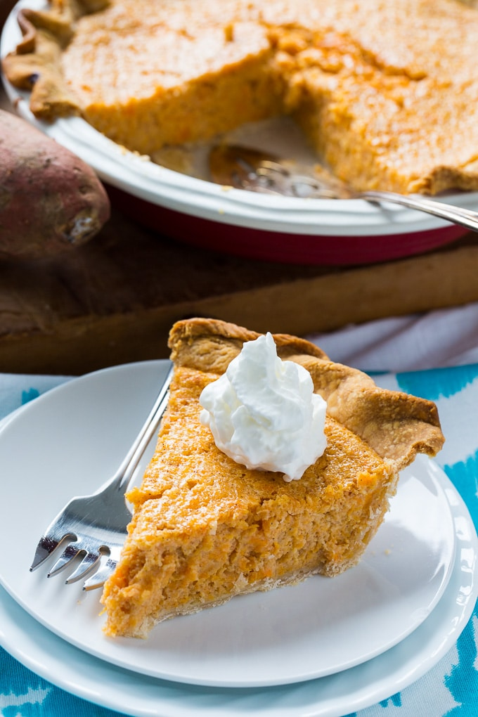 Sweet Potato Buttermilk Pie makes a great southern dessert.