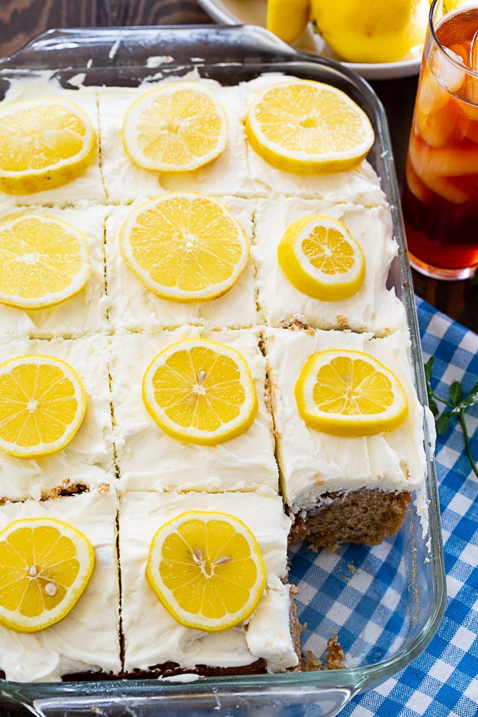 Sweet Tea and Lemonade Sheet Cake