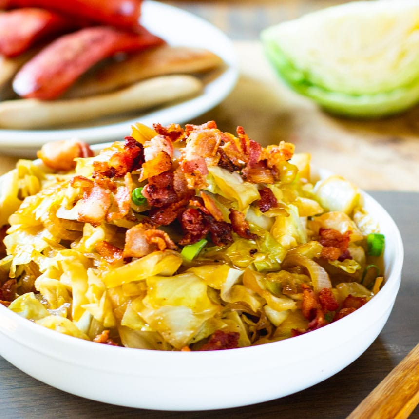Sweet And Sour Cabbage With Bacon Spicy Southern Kitchen