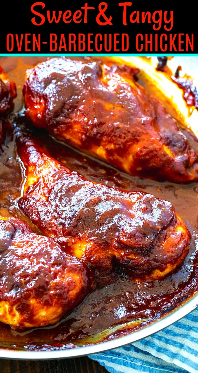 Barbecued Chicken in a skillet.